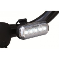 Priekšējais velo lukturis ar īpaši spilgtām BALTĀM LED gaismas sensoru un USB uzlādi WO255